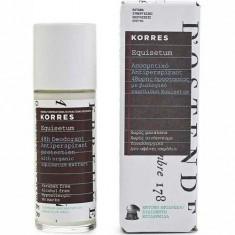 Дезодорант–антиперспирант с экстрактом хвоща интенсивная защита для чувствительной кожи Korres
