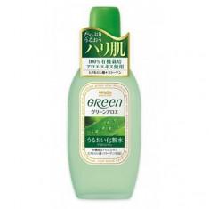 лосьон, увлажняющий и подтягивающий кожу лица meishoku green plus aloe astringent
