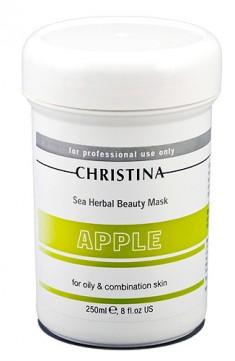 Яблочная «маска красоты» для жирной и комбинированной кожи christina (60 мл)