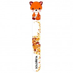 SOLOMEYA Пилка для натуральных и искусственных ногтей 180/220 Хитрый лисенок / Sly Fox Nail File