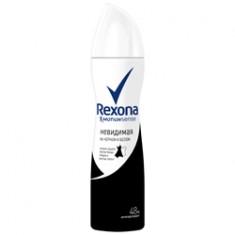 REXONA Антиперспирант-аэрозоль Невидимый на черном и белом 150 мл