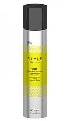 Kaaral Style Perfetto Защитный лак для волос сильной фиксации 400 мл