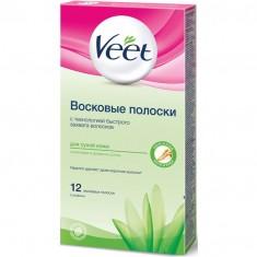 ВИТ полоски восковые для депиляции для cухой кожи N12 Veet