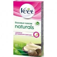 ВИТ Naturals полоски восковые для депиляции с маслом Ши N10 Veet