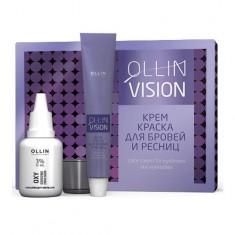 Оллин/Ollin Professional VISION SET graphite Крем-краска для бровей и ресниц 20мл