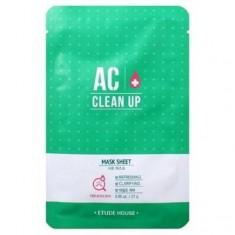 маска тканевая для проблемной кожи etude house  ac clean up mask sheet