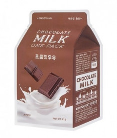 Тканевая маска молочная с какао и сливой A'PIEU Chocolate Milk One-Pack