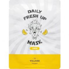 Тканевая маска для лица с экстрактом лимона Daily Fresh up Mask Lemon Village 11 Factory