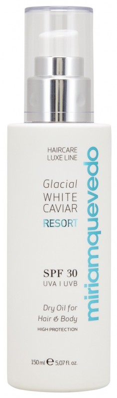 MIRIAM QUEVEDO Масло сухое с маслом прозрачно-белой икры для волос и тела SPF 30 / Glacial White Caviar Resort Dry Oil For Hair and Body 150 мл