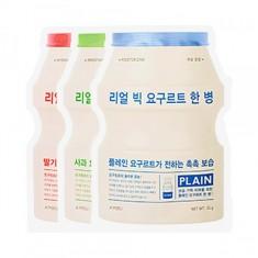 маска разглаживающая с экстрактом йогурта a'pieu real big yogurt bottle