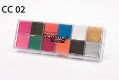 Крем-краски 12 цветов MAKE-UP-SECRET СС02 (12 Cream Colors)