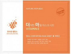 Маска тканевая для чувствительной кожи NATURE REPUBLIC REAL COMFORTING MASK SHEET [VITAMIN E] 24гр