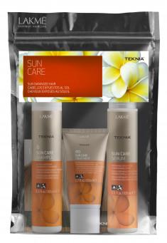 LAKME Набор для поврежденных солнцем волос (шампунь 100 мл, сыворотка 100 мл, маска 50 мл) Teknia Sun Care Travel Pack