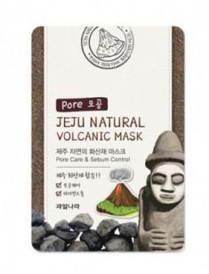 Маска для лица очищающая поры Welcos Jeju Natural Volcanic Mask Pore Care & Sebum Control 20мл
