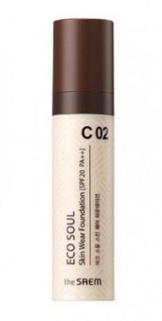 Тональная основа THE SAEM Eco Soul Skin Wear Foundation C 02 Cotton tone 30мл