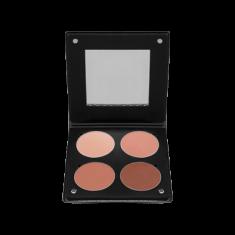 Палетка румян с зеркалом, 4 оттенка Make-Up Atelier Paris BL3DBO коричнево-оранжевый 96г