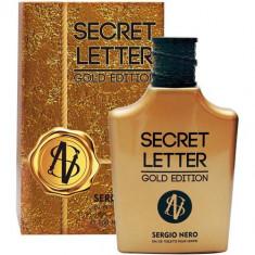 Туалетная вода для мужчин Secret Letter Gold Edition 100 мл SERGIO NERO