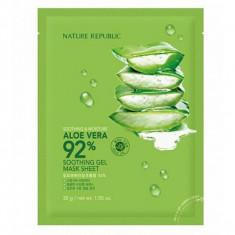 маска для лица листовая с алоэ nature republic soothing & moisture aloe vera 92% soothing gel mask sheet