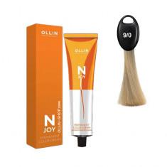Ollin N-JOY 9/0 блондин перманентная крем-краска для волос 100мл OLLIN PROFESSIONAL