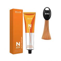 Ollin N-JOY 9/43 блондин медно-золотистый перманентная крем-краска для волос 100мл OLLIN PROFESSIONAL