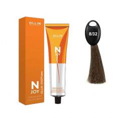 Ollin N-JOY 8/32 светло-русый золотисто-фиолетовый перманентная крем-краска для волос 100мл OLLIN PROFESSIONAL