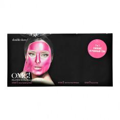 Комплекс масок для лица DOUBLE DARE OMG! PLATINUM 3 in 1 Hot Pink для очищения, увлажнения, лифтинга и сияния