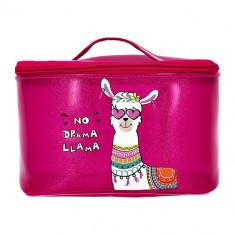 Косметичка-сундучок LADY PINK Lama малиновая