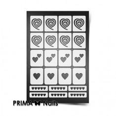 Prima Nails, Трафареты «Сердечки»