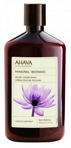 AHAVA Крем-мыло жидкое бархатистое, лотос и каштан / Mineral Botanic 500 мл