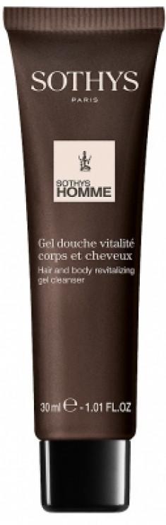Гель-шампунь для волос и тела ревитализирующий Sothys Hair And Body Revitalizing Gel Cleanser 30мл