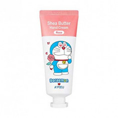 Крем для рук A'PIEU Shea Butter Hand Cream Rose [Doraemon Edition] 35мл