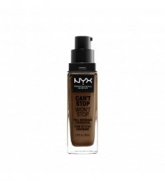 NYX PROFESSIONAL MAKEUP Тональная основа Can't Stop Won't Stop Full Coverage Foundation Cocoa 38