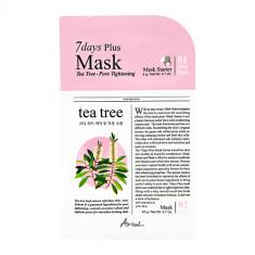 2-ступенчатая система ухода за лицом ARIUL 7 DAYS PLUS с экстрактом чайного дерева сужающая поры подушечка для очищения лица + маска для лица 3 г + 20 г