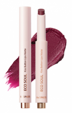 Помада для губ матовая THE SAEM Eco Soul Kiss Button Lips Matte 18 Red Mania 2гр