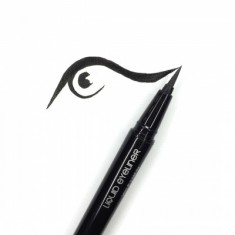 Подводка-фломастер MAKE-UP-SECRET черная (Liquid Eyeliner Pen)