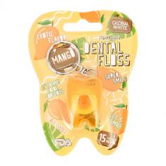 Нить зубная GLOBAL WHITE Mango 15 м