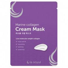 тканевая маска с кремовой эссенцией la soyul marine collagen cream mask