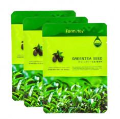 Маска с экстрактом семян зеленого чая FarmStay Green Tea Seed Visible Difference Mask Sheet 23мл*3 шт
