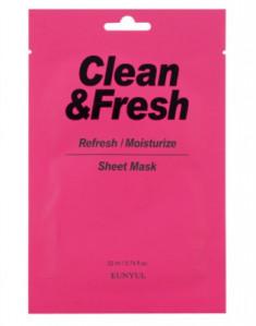 Тканевая маска для освежающего и увлажняющего эффекта EUNYUL CLEAN & FRESH REFRESH-MOISTUIZE SHEET MASK 22мл