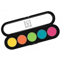Палитра теней, 5 цветов Make-Up Atelier Paris T23 лимонно-кислотные тона