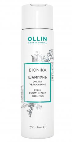 OLLIN PROFESSIONAL Шампунь для поврежденных волос Экстра увлажнение / BIONIKA 250 мл