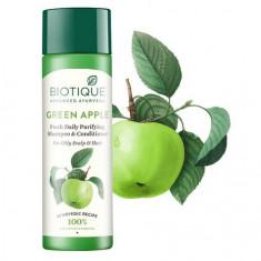 Biotique, Шампунь-кондиционер для волос Bio Green Apple, 190 мл